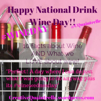 Happy National Drink Wine Day!!